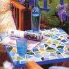 Оригинальный столик - мозаика в интерьере