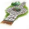 Как сделать садовую дорожку из камня ?