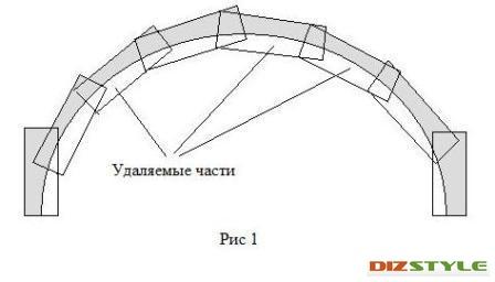 Как сделать дугу из досок Raskroyprestij.ru