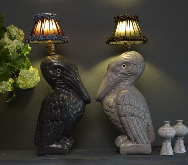 Светильники в виде фигур животных.