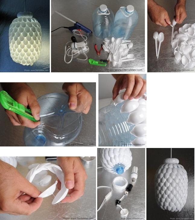 Как сделать люстру своими руками из пластиковых ложек