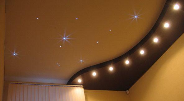 Потолок звёздное небо.