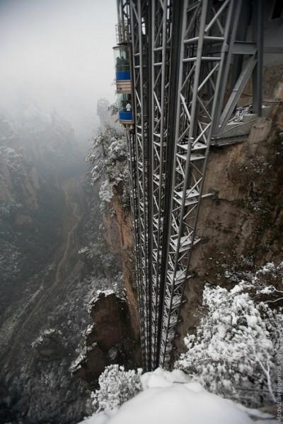 Самый большой (высокий) лифт на свете.