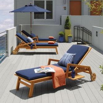 Мебель для бассейна из тикового дерева