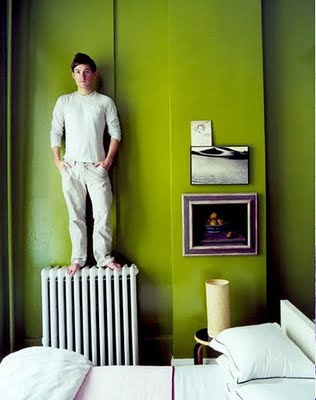 Зеленый дизайн - Оттенки зеленого цвета в интерьере.