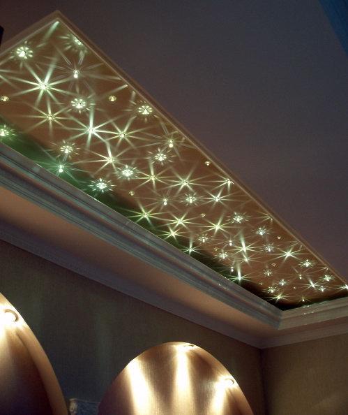 Светильники Swarovski - лучшее освещение натяжных потолков.