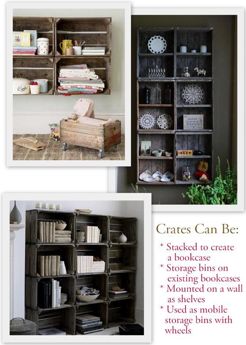 Предметы мебели из старых деревянных ящиков.