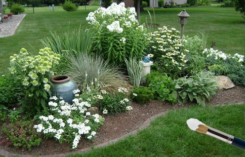 Белый сад.