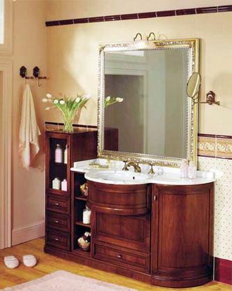 Мебель из натурального дерева в ванной комнате - энергия природы в ванной.