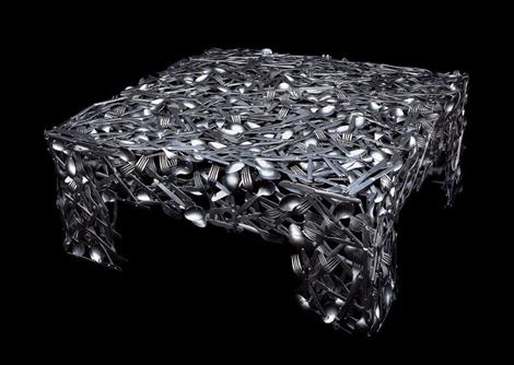 Стол из столового серебра