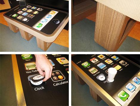 Столик в виде IPhone.