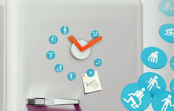 Часы – магнитик  на холодильник