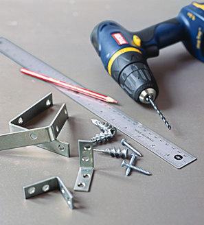 Инструмент и фурнитора для изготовления полок