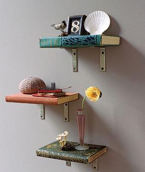 Идея для изготовления полок из книг