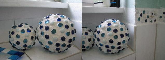 Керамические шары с ракушками