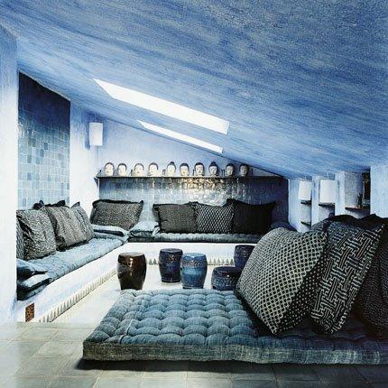 Синий и голубой цвет в оформлении интерьеров