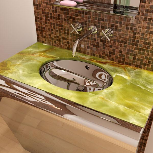 Креативное оборудование из нержавейки для интерьера ванной комнаты.