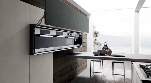 Монументальная мебель на кухне - Кухня в стиле индустриальный шик.