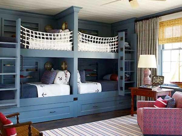 30 дизайнерских идей двухъярусных кроватей для детей.