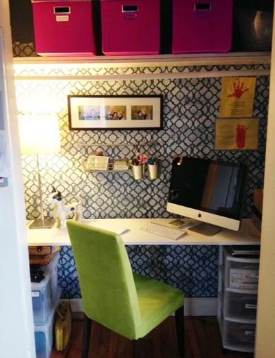 Домашний офис за дверцей шкафа - мини офис в шкафу!