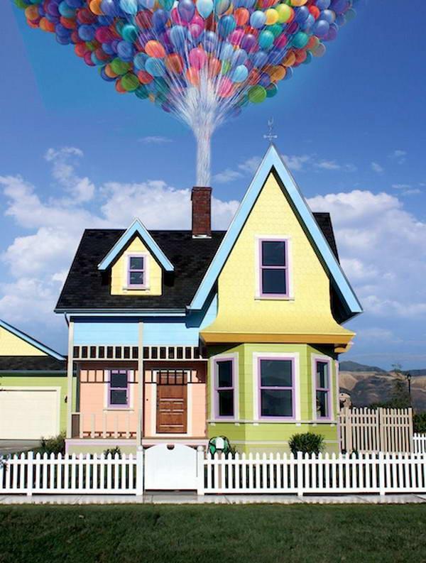 Архитектурная копия дома из мультфильма Вверх
