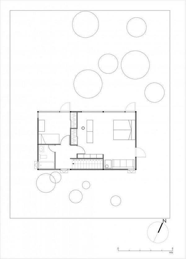 Проект дома Apollo 11, Ла-Рейна, Сантьяго, Чили