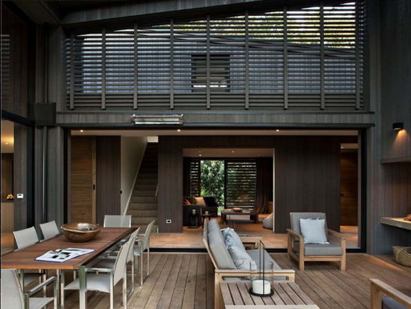 Проект дома для отдыха в Новой Зеландии от дизайнера Matt Chaplin.
