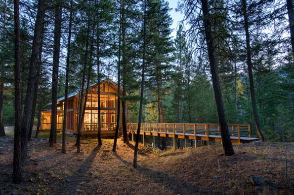 Избушка Бабы-Яги - Современный дом в лесу.