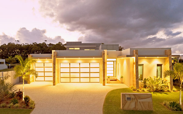 Современный дом с роскошным дизайном.