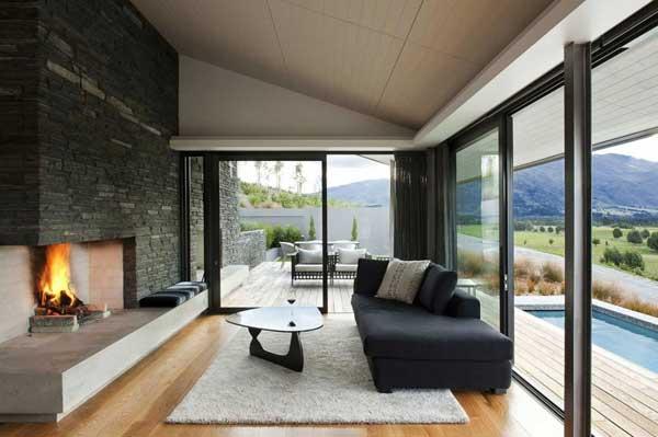 Дом в стиле минимализма и экостиле.