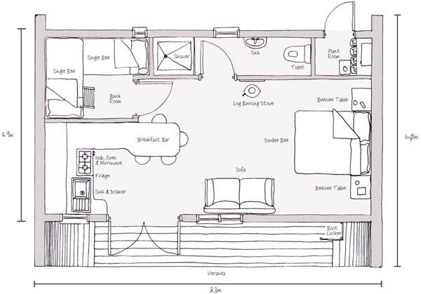 Дом в экостиле с высокими жилищными стандартами.