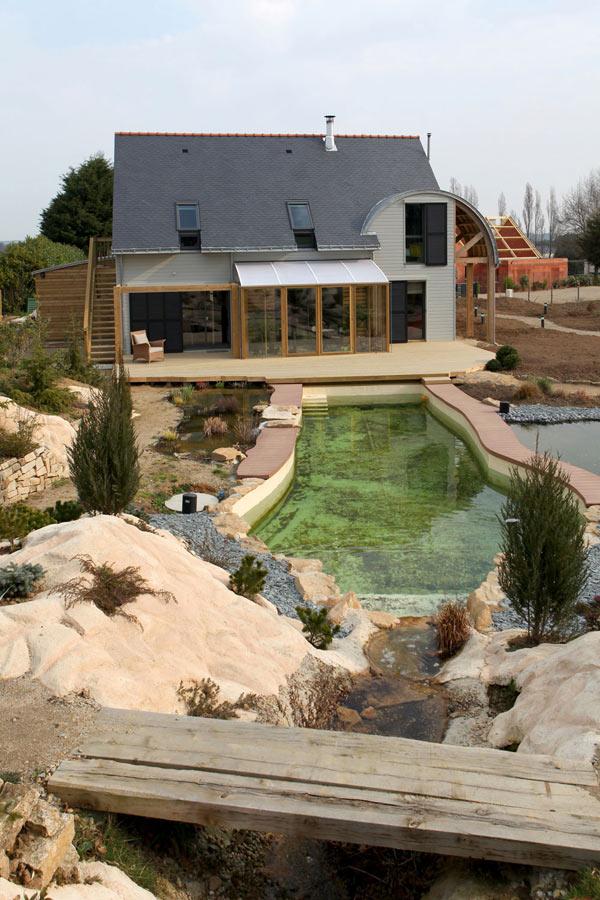 Биоклиматический дом и ландшафтный дизайн.