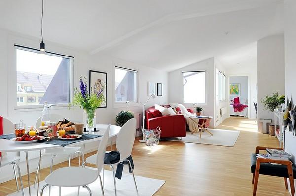 Красочная квартира, включающая террасу на крыше