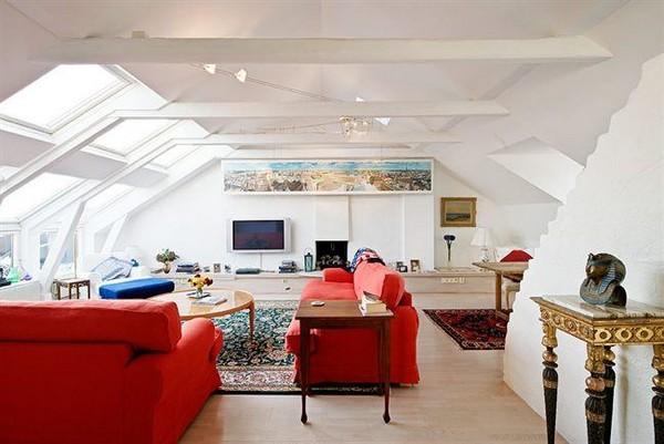 Стиль эклектика в дизайне квартиры мансарды