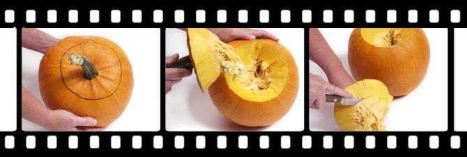 Мастер-класс вырезание тыквы к Хэллоуину.