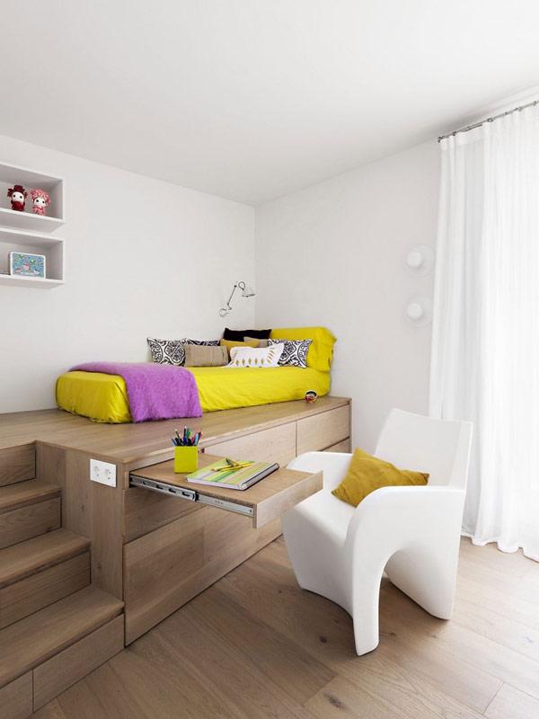 Квартира для отдыха с открытой планировкой.