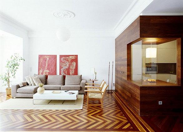 Квартира для любителей дерева.