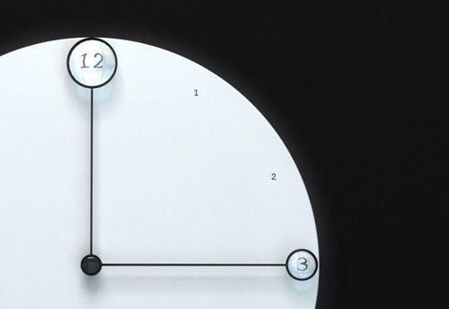 Часы со стрелками - лупами