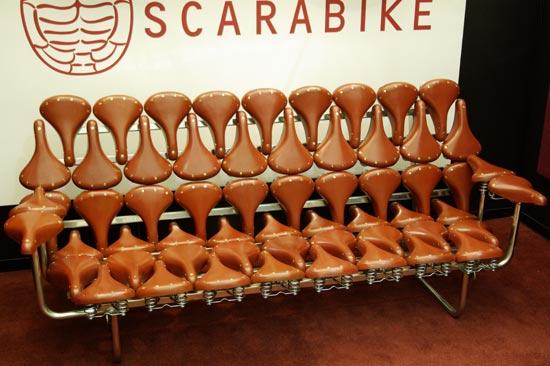 Диван - софа из велосипедных сёдел