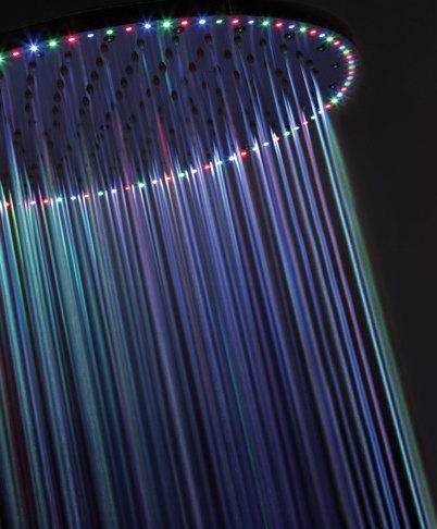 Душ с головкой со светодиодной подсветкой