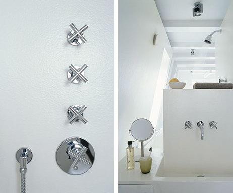 Белый цвет в интерьере ванной комнаты