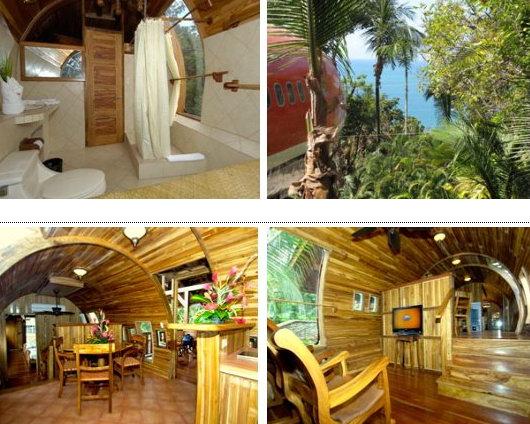 Отель в самолете, в Коста-Рике, на территории Национального парка