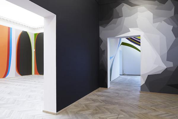 Цветные блоки и фигуры стен