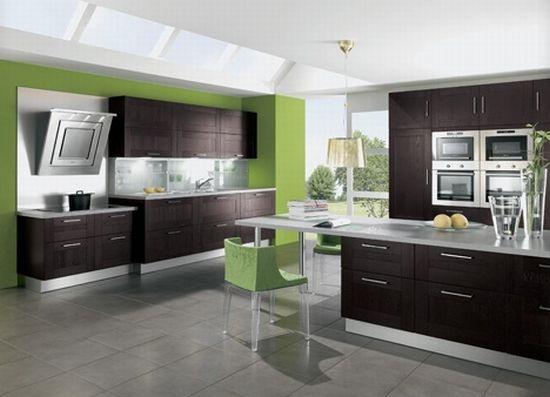 Как оформить интерьер кухни в зеленом цвете и зеленых оттенках