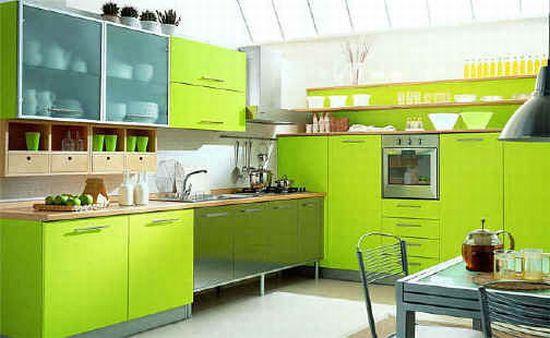 Оформить интерьер кухни в зеленом цвете и зеленых оттенках