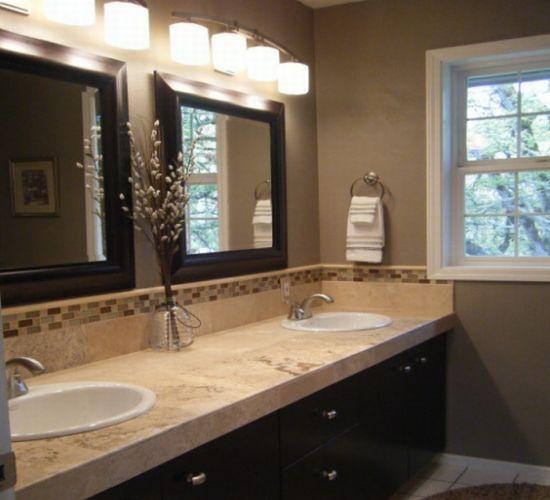 Коричневый цвет в интерьере ванной комнаты