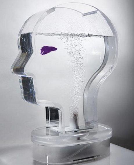 Аквариум в форме человеческой головы