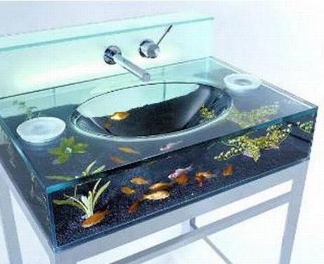 Раковина в виде аквариума