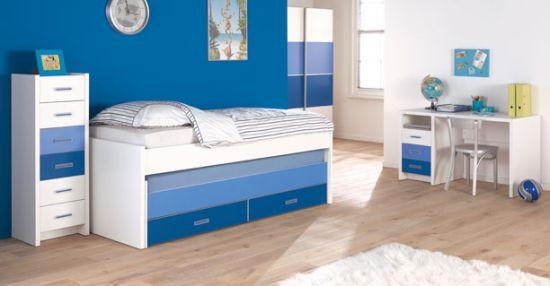 Интерьер детской комнаты в голубом цвете и оттенках