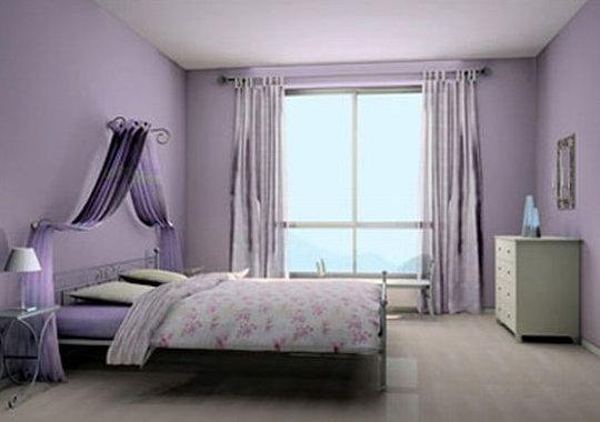 Интерьер комнат в фиолетовом цвете